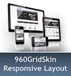 960 Grid SlateBlue & MGS Module & Portal Templates - Compatible Mobile and Desktop - DNN 6.2 Social
