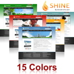 Shine Skin (15 Colors) // SEO Menu // W3C Xhtml & CSS Validated DIV+CSS Skin // For DNN 5 &6