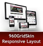 960 Grid Maroon Mobile & MGS Module & Portal Templates - Compatible Mobile and Desktop DNN6.2 Social