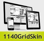 1140 Grid YellowGreen Mobile Skin Pack & Portal Templates - Compatible Mobile Device and Desktop 
