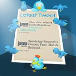 Adaptive / Responsive LATEST TWEETS Twitter Module - SpeedyApplication.com