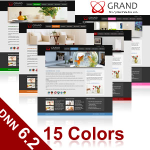 Grand Skin (15 Colors) // DNN 6.2 Social // SEO Menu // W3C Xhtml & CSS Validated // For DNN 5 & 6