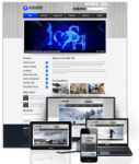 Award Blue // 960Grid // Mobile and Desktop Responsive // Typography // Portal Templates // Social