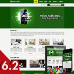 Business 62 Green Skin Adaptive Responsive Skin *4 Modules* Mobile Skin Tablet Skin DNN 5.x,6.x,6.2