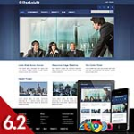 Business 64 Blue Skin Flexible Responsive Skin *4 Modules* Mobile Skin Tablet Skin DNN 5.x,6.x,6.2