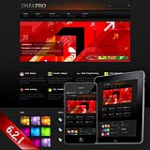 (DNN4/5/6)DNNglobal Dark Pro Skin 10347 With rotator Banner Module 
