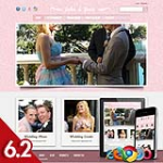Wedding 68 Pink Skin Flexible Responsive Skin *4 Modules* Mobile Skin Tablet DNN 5.x,6.x,6.2