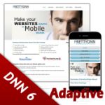 Responsive DNN Skin 120816 for DNN 6 / Mobile Compatible / Adaptive Handheld & Desktop / Business