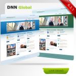 Ocean blue/Dark Green business Skin 10335_compatible with DNN4.5.6_Free 4Modules+2Home page options