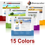 Downcolor Skin (15 Colors) // DNN Social // SEO Menu // W3C Xhtml & CSS Validated // For DNN 4/5/6