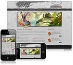 (DNN4/5/6) DNNGo Gray & Brown Art DNN Skin 005-V2 With JQuery Menu and Slider Banner Module