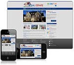 (DNN 4/5/6) Blue Real Estate DNN Skin 009-V2 with Slider Banner (new)