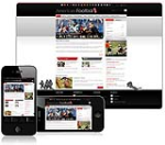 (DNN 4/5/6) Black & Red AmericanFooterball DNN Skin 001-V2 with Slider Banner