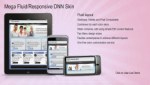 Mega DNN Skin Fluid Responsive Layout 960 grid for PC, iPad and Smart devices with Slider