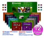 (DNN 4/5/6) 12 Colors Business Xhtml W3C Standards CSS Pack 002-V2 (With GoMenu and Slider Banner)