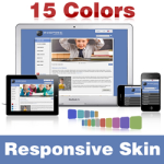Inspire Skin (15 Colors) // Responsive Design // Vertical Menu //Slider Banner // Mobile //DNN 5&6&7