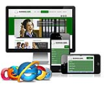B003.06_Desktop, Tablet, Mobile Phone Skin**3 Homepage Option*2 Inner Page*Any Business_Dark Green