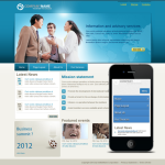 Any Business Mobile/PC Skin with slide banner_compatible with mobile/PC ,DNN4.5.6
