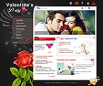 (DNN4/5/6/7) DNNGo Black & Red Valentine's Day W3C DNN Skin 002-V2 (With Slider Banner)