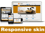 Exceed-Orange Skin // Responsive Design // Mobile & Tablet // Slider Banner // For DNN 5 & 6 & 7