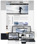 Award SlateGray // 960 Grid // Mobile and Desktop Responsive //Portal Templates // Social
