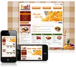 (DNN 4/5/6) Orange Food DNN Skin 001 with Slider Banner