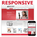 Coral Red from PT Responsive DNN Skin Pack 02 / Mobile Business / SEO / DIV & CSS / Professional