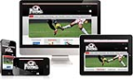 (DNN 5/6) Football Mobile Skin 004 Desktop Ipad Mobile Responsive//12Grid//Typography//Social//Blog