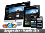 Responsive/Mobile Skin_11456.04 Black/Blue/Gray/Communication_Free 4 Modules_Any Background