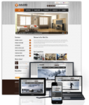 Award Brown // 960 Grid // Mobile and Desktop Responsive //Portal Templates // Social