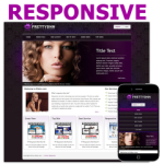 Beauty 121125 Responsive Skin / Mobile / HTML5 & CSS3 / Touchable Slide Banner / Purple
