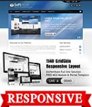 Software SteelBlue Mobile and Desktop Responsive Skin & MGS Module & Typography  Portal Templates