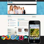 CSS3 Blue Mobile/PC Business Skin 11238v2 with slide banner_compatible with mobile/PC ,DNN4.5.6