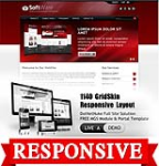Software DarkRed Mobile and Desktop Responsive Skin & MGS Module & Typography  Portal Templates