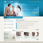Blue Global/business Skin with slide banner_compatible with mobile/PC ,DNN4.5.6