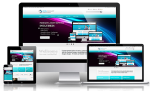 Business DNNSmart WZ0004 Cyan Responsive Skin - Grid Responsive Layout, Mobile, Tablet