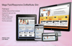 Mega DNN Skin Fluid Responsive Layout 960 grid for PC, iPad and Smart devices with Slider v7