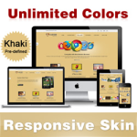 Custom Skin // Khaki // Responsive Skin // Unlimited Colors // Mobile & Tablet // DNN 5 & 6 & 7