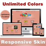 Custom Skin // LightSalmon // Responsive Skin //Unlimited Colors // Mobile & Tablet // DNN 5 & 6 & 7