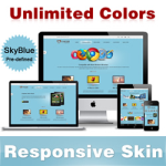 Custom Skin // SkyBlue // Responsive Skin // Unlimited Colors // Mobile & Tablet // DNN 5 & 6 & 7