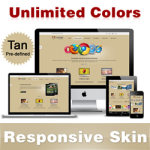 Custom Skin // Tan // Responsive Skin // Unlimited Colors // Mobile & Tablet // DNN 5 & 6 & 7