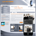Responsive Mobile/PC Business Pro Skin 10318 with Mobile skin_DNN4.5.6 