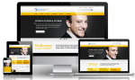 Business DNNSmart WZ0007 Yellow Responsive Skin - Grid Responsive Layout, Mobile, Tablet