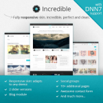 Incredible Premium DNN Skin // Responsive // Blog // Gallery // Exported Pages