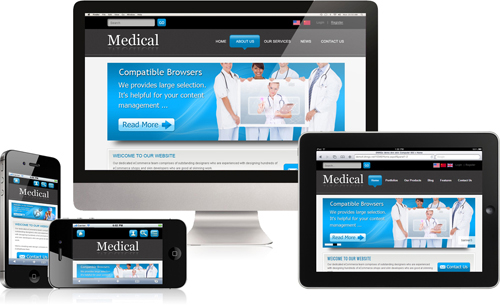 DNN5/6/7 Medical Mobile DNN Skin 011 Mobile Desktop iPad Responsive/PhotoAlbums/Gallery/Social/Blog