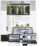 Award Olive  // 960 Grid // Mobile and Desktop Responsive //Portal Templates // Social