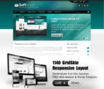 Software Teal Mobile and Desktop Responsive Skin & MGS Module & Typography  Portal Templates