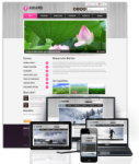 Award HotPink  // 960 Grid // Mobile and Desktop Responsive //Portal Templates // Social