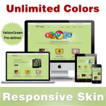 Custom Skin // YellowGreen // Responsive Skin // Unlimited Colors // Mobile & Tablet //DNN 5 & 6 & 7