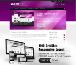 Software Purple  Mobile and Desktop Responsive Skin & MGS Module & Typography  Portal Templates